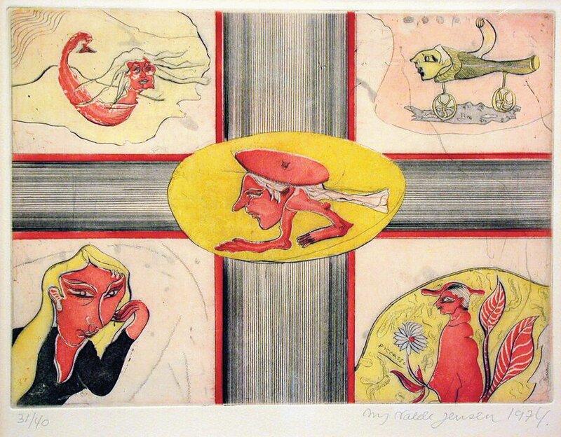 Komposisjon med figurer 1974