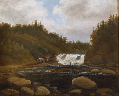 Landskap med sag og fossestryk 1840