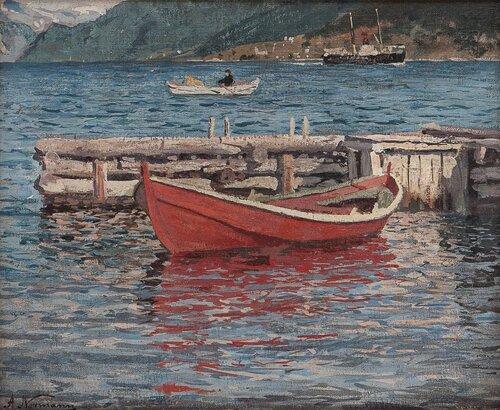 Rød robåt