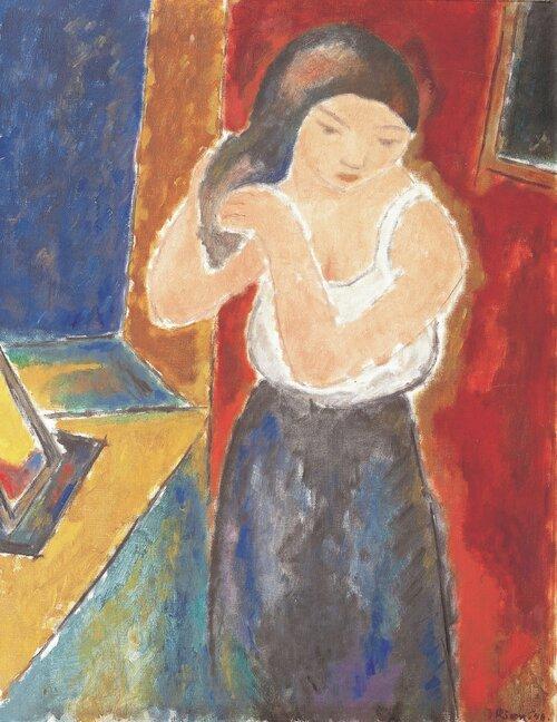 Kvinne med speil 1948