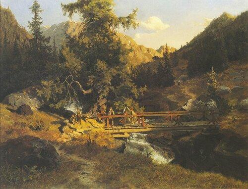 Folkedans på bro 1845