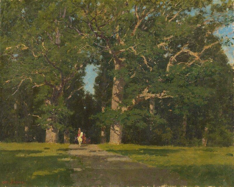 Rytter i ekeskog