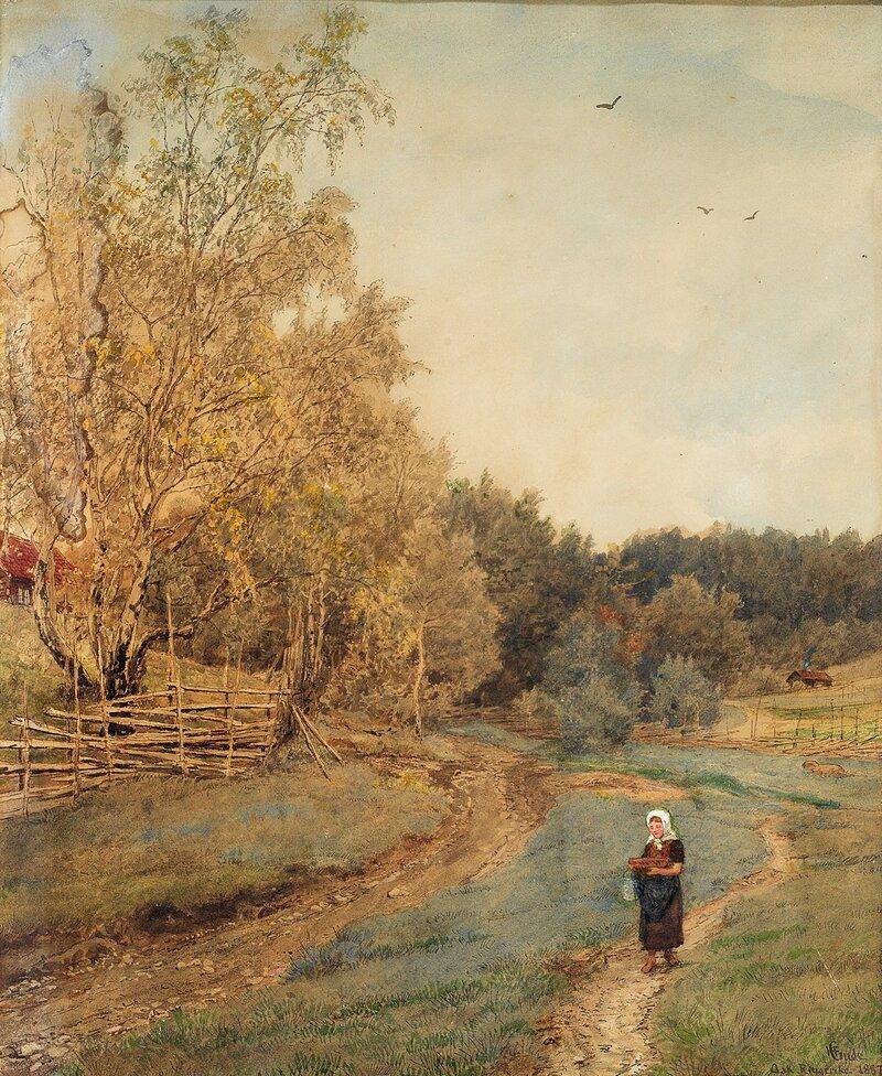 Fra Ask på Ringerike 1887
