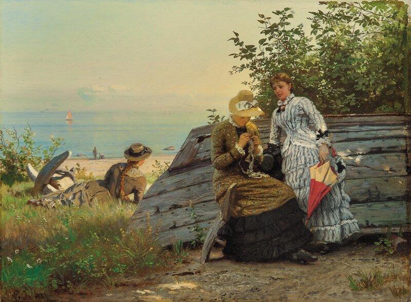 Damer i solen 1883