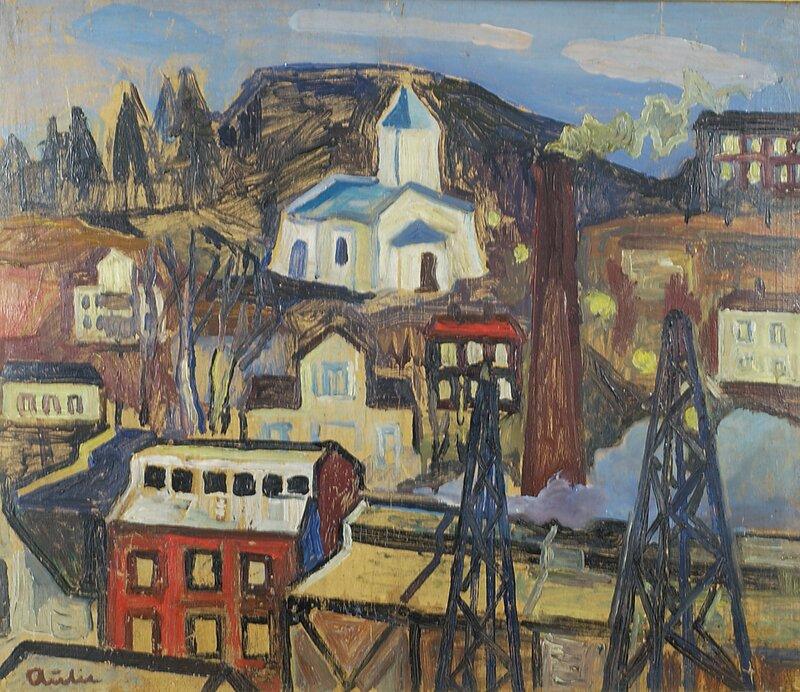 Kirke og fabrikkbygninger