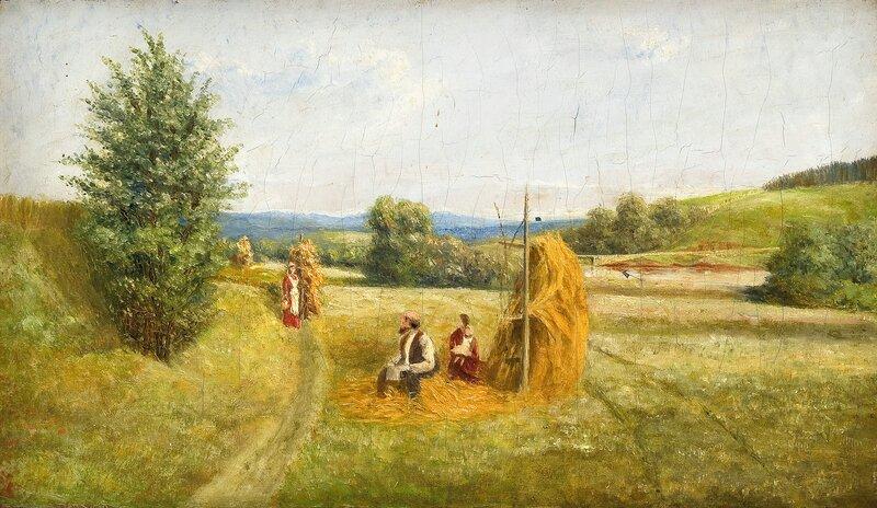 Høyonn på Vik i Stange, Hedmark 1884