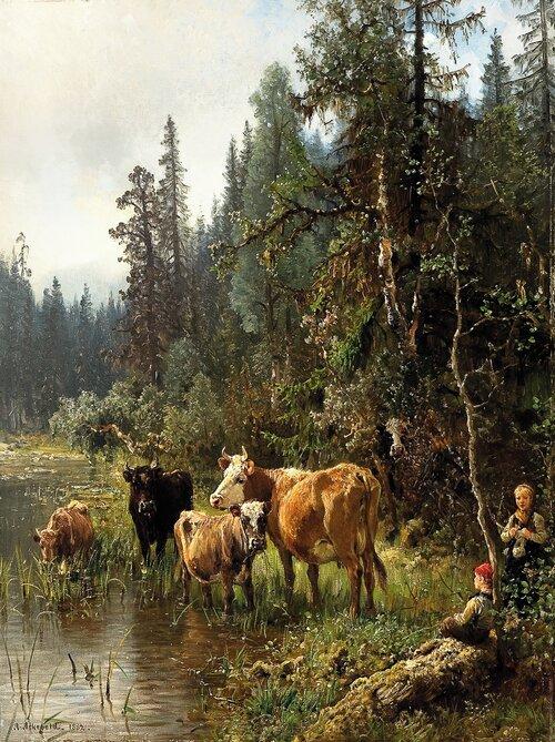 Ved vanningsstedet 1882