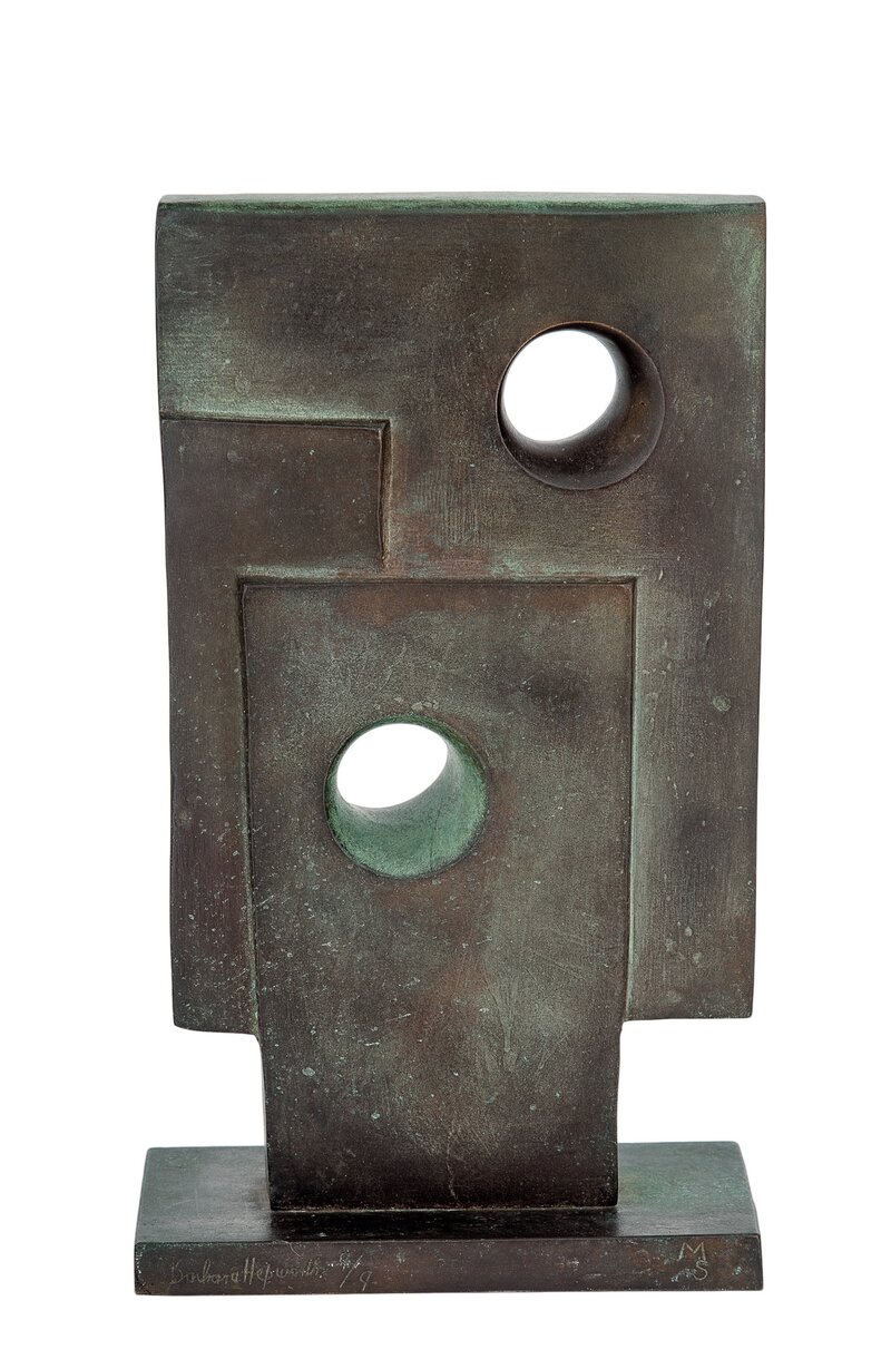 Liten skulptur av Firkanter med To Sirkler