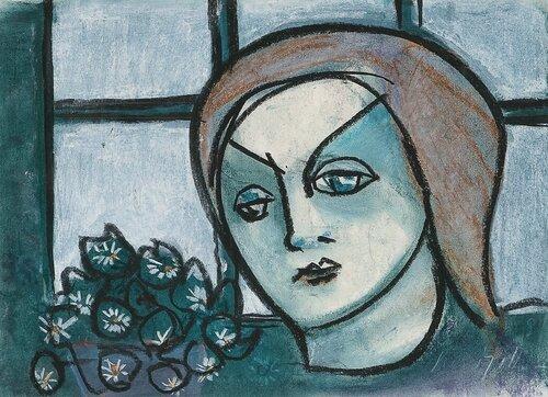 Kvinne ved vinduet