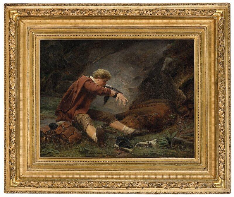 Såret bjørnejeger 1867