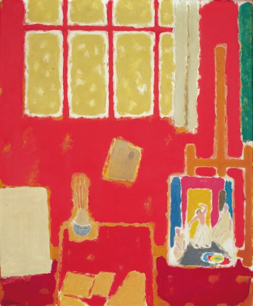 Rødt atelier