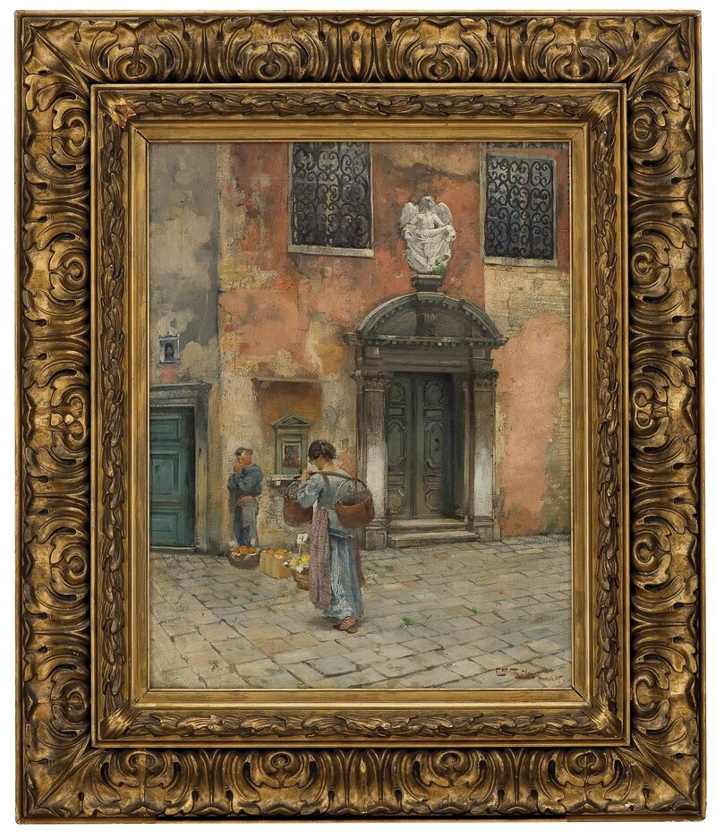 Kirkeportal, Venezia 1885