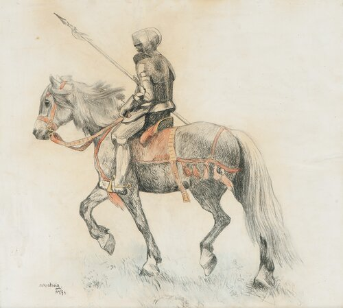 Studie til Ola Velland 1897