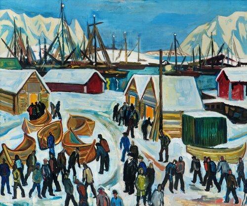 Fiskehavn i Lofoten 1933