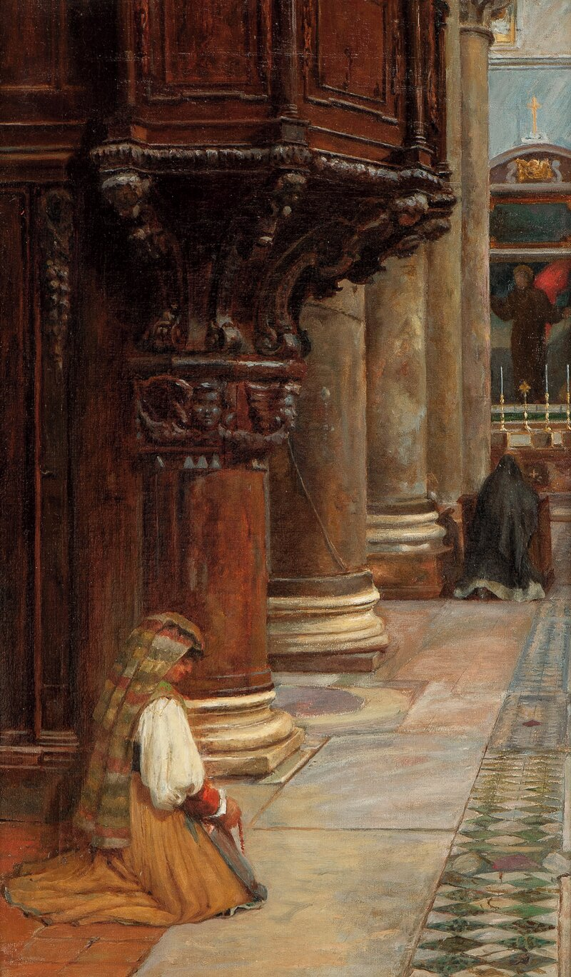 Interior from the Basilica of Santa Maria in Ara Coeli, Rome