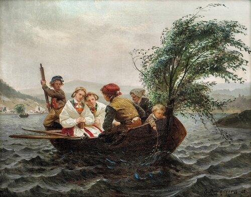 På vei fra kirke 1865