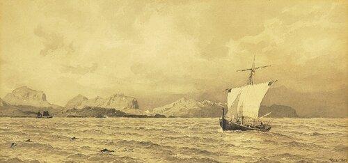 Skuter ved forreven kyst 1893