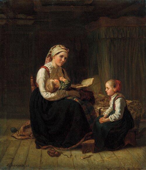Morens undervisning 1856