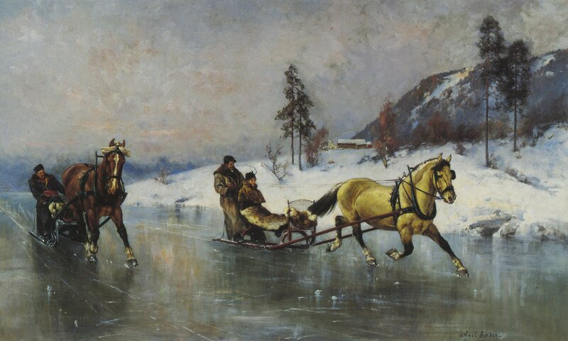 Sledekjøring på isen