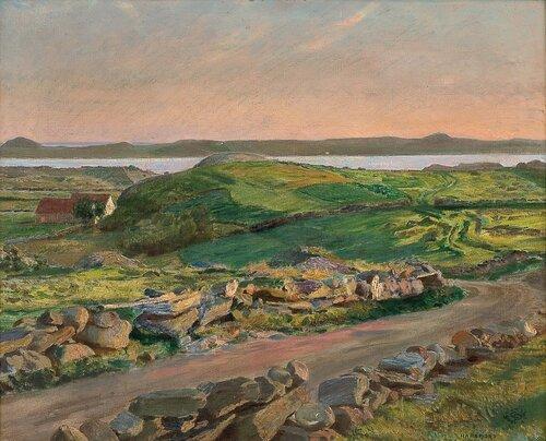 Kveld ved Hafrsfjord 1900