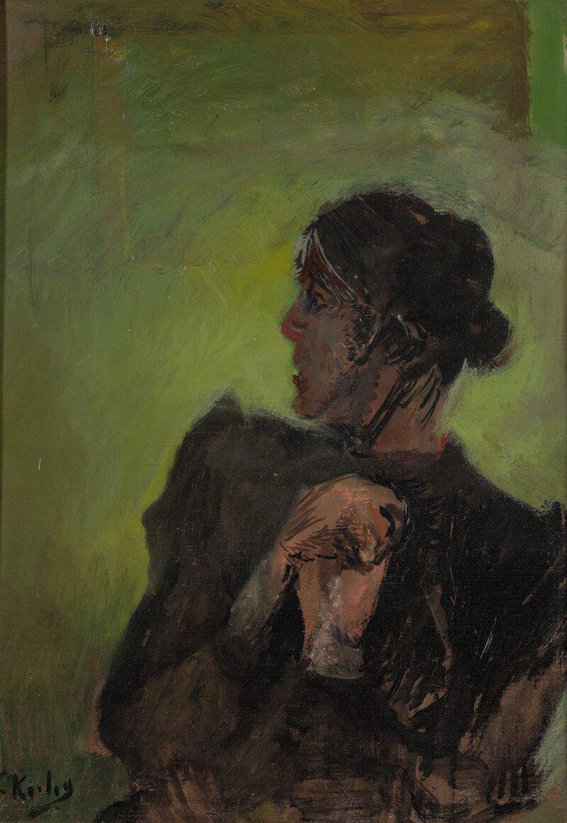 En forundret dame