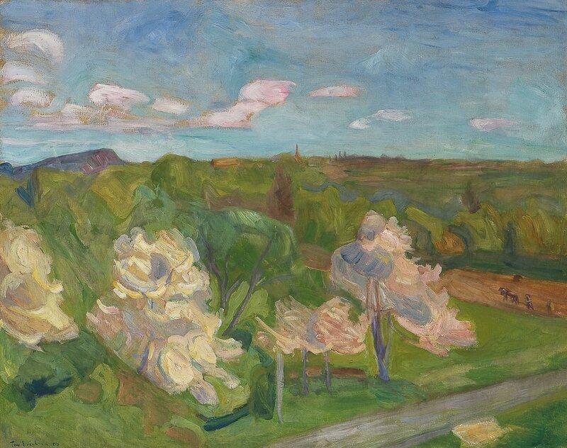 Blomstrende epletrær 1903