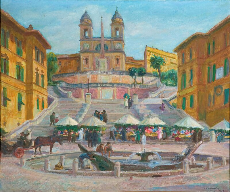 Spansketrappen, Roma 1923