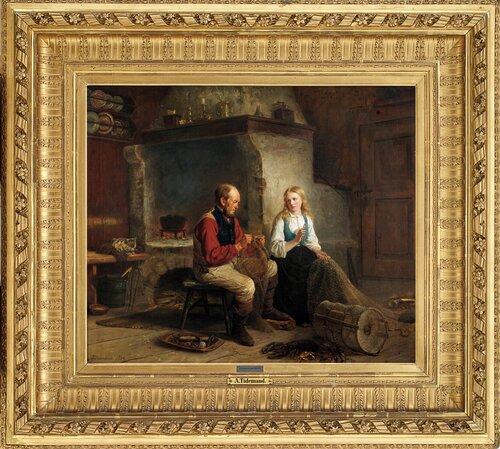 Fiskeren og hans datter 1864