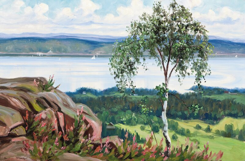Summer day, view by Vollen in Asker