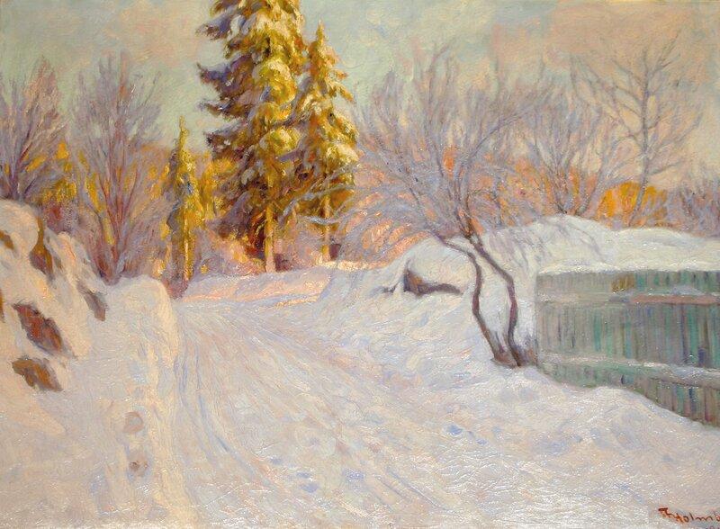 Vinterlandskap 1918