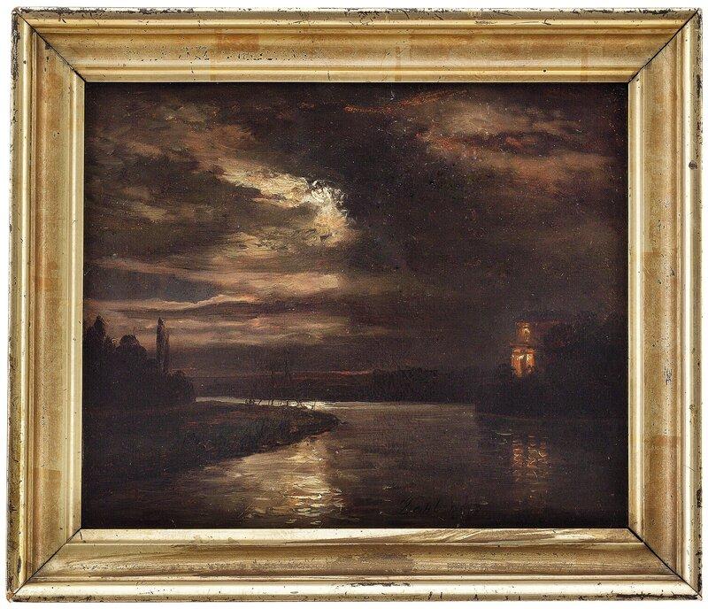Måneskinn over Elben 1843