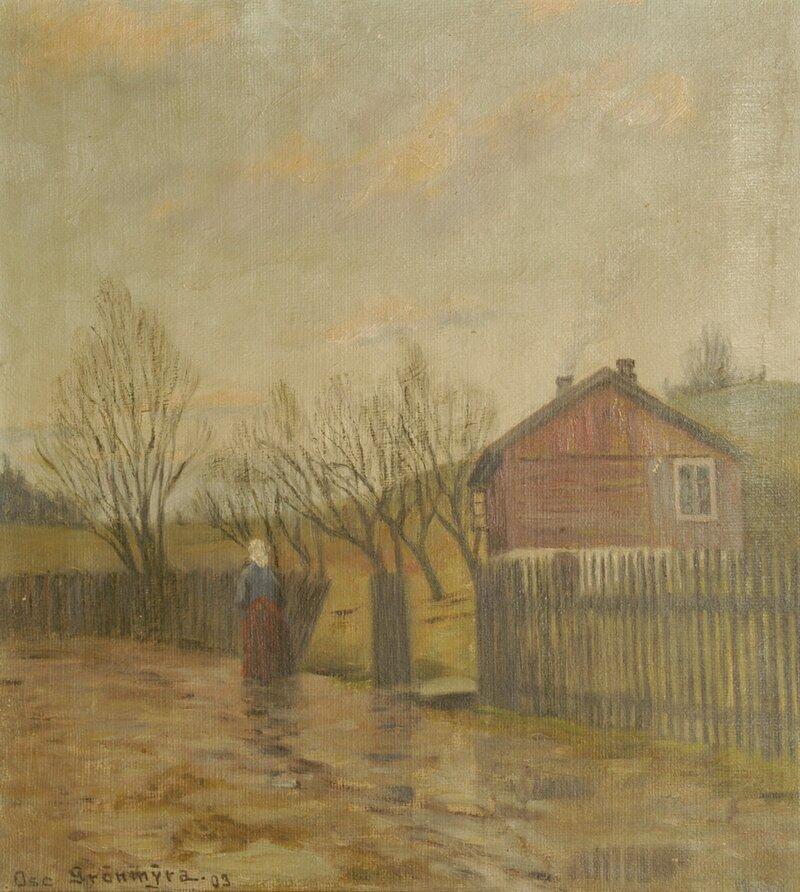 Kvinne på landevei 1903