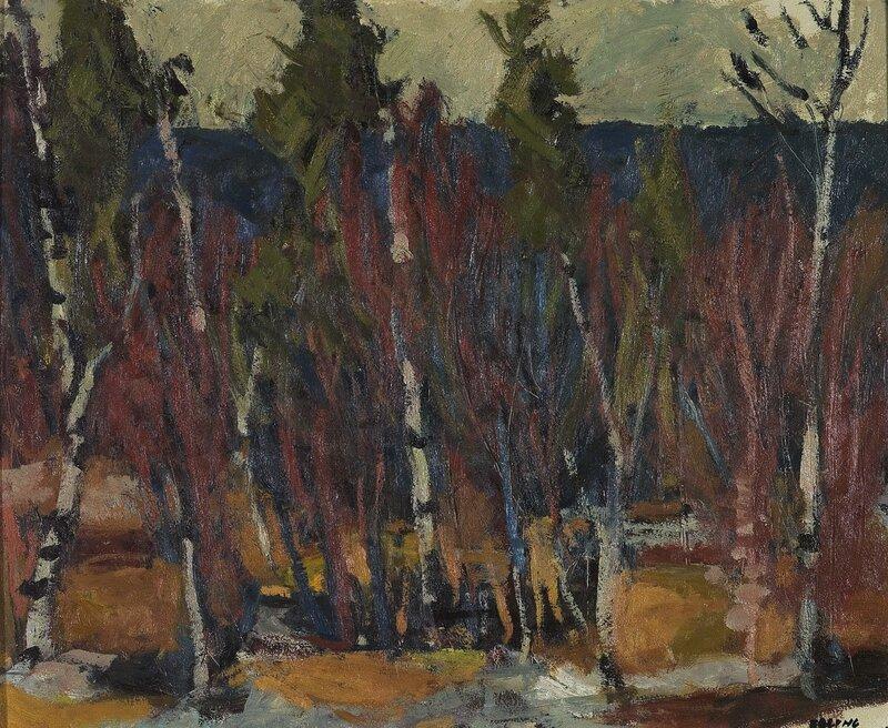 Landskap med trær 1948