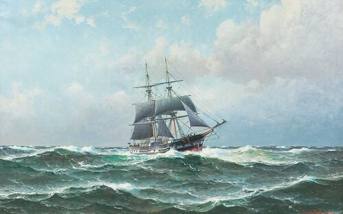 Seilskute i rom sjø 1908