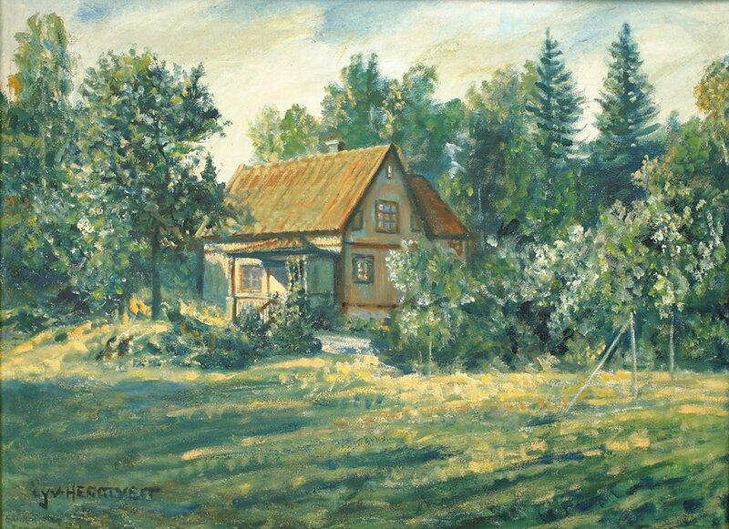 Hus og trær