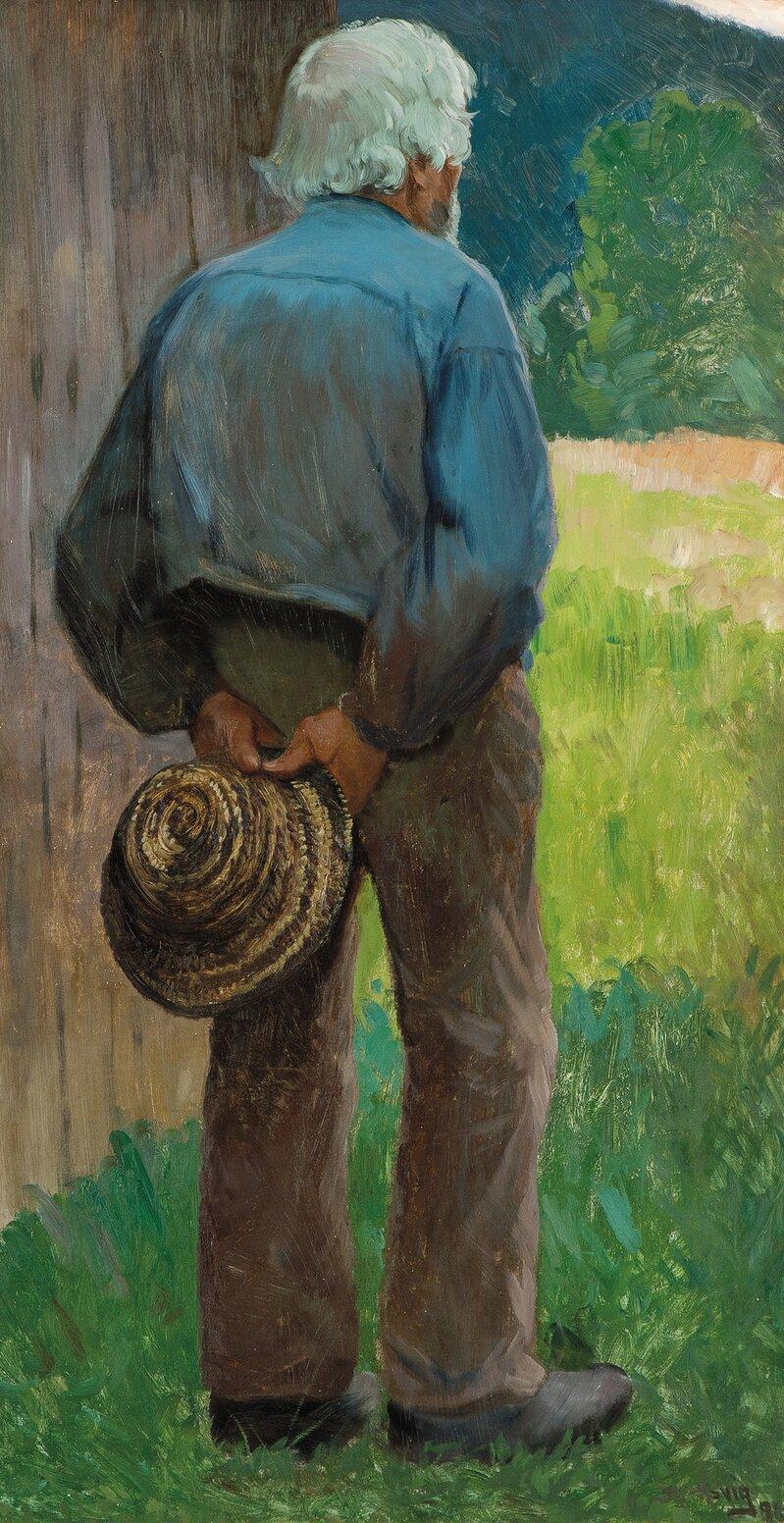 Gammelen. Studie til Menneskens sønn 1890