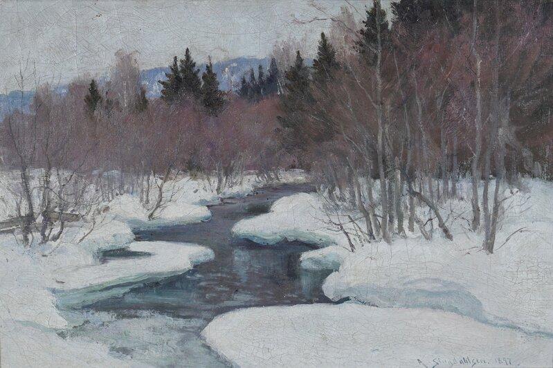 Elvelandskap, vinter 1897