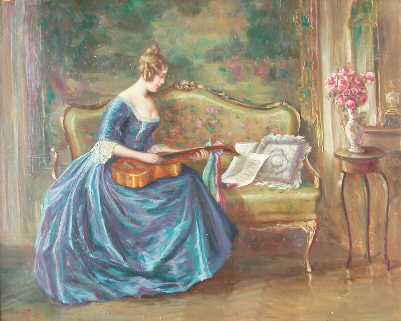 Kvinne med gitar