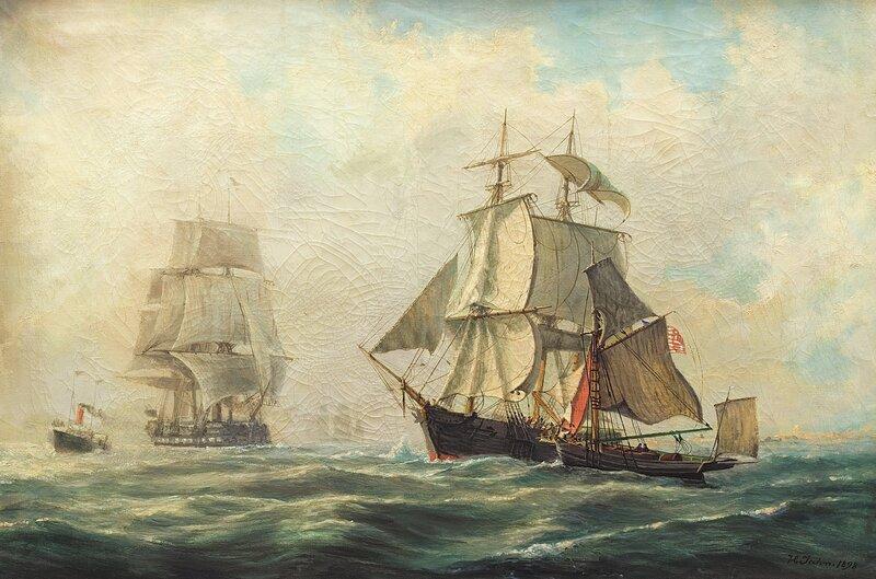 Seilskuter og dampbåt 1898