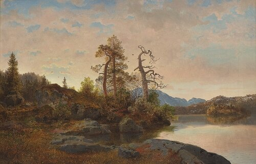 Forestal Landscape with a Lake
