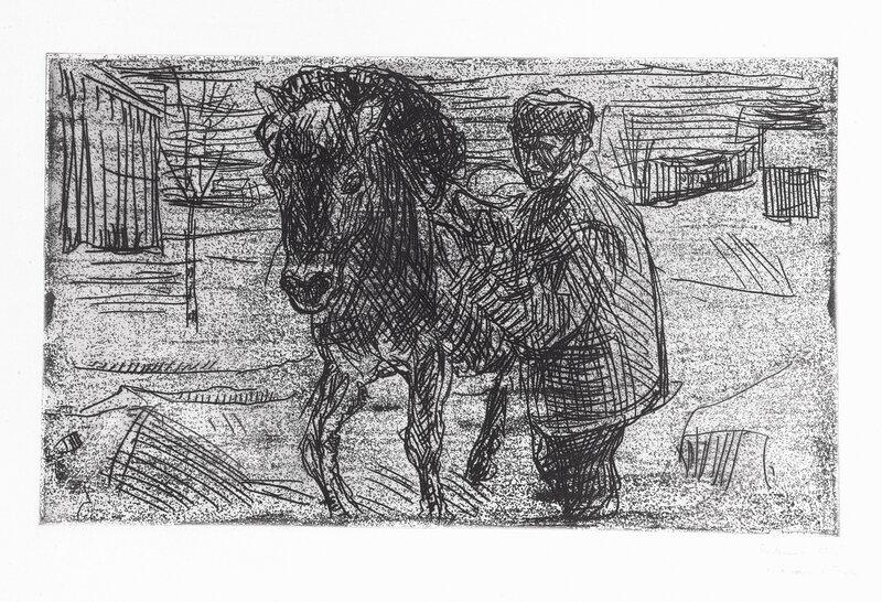 Mann med hest I