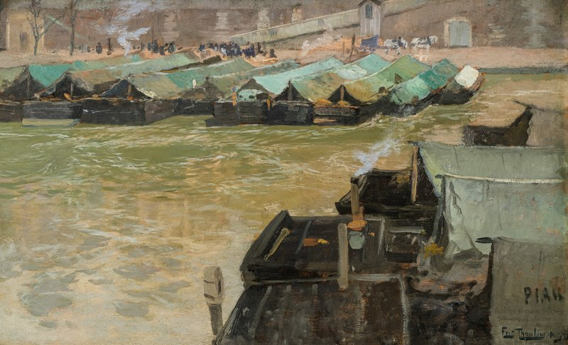 Barges on the Seine 1892