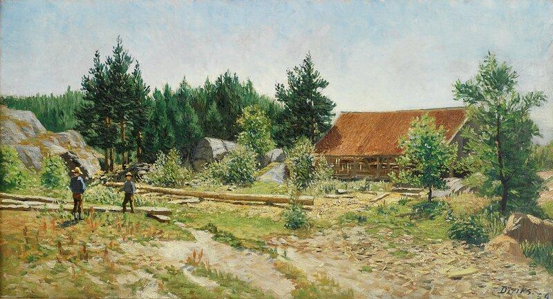 Sommerlandskap fra Fevik 1889