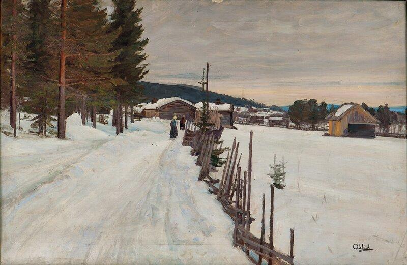Gårdsvei, vinter