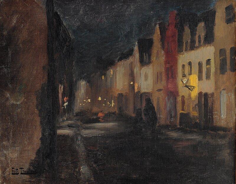 Street in Dieppe, night