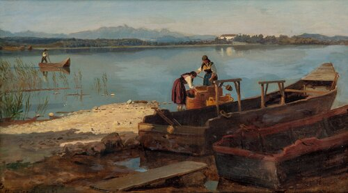 Women on the Shore of Chiemsee 1867