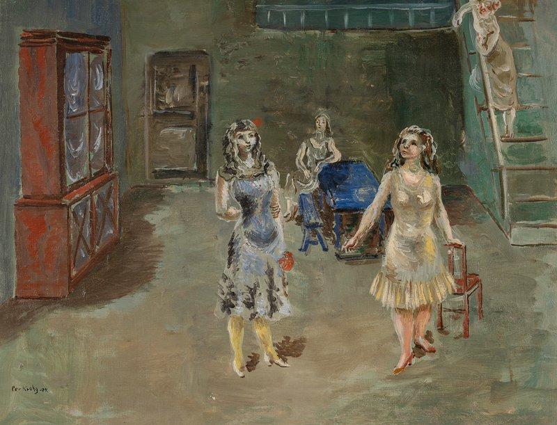 Fire kvinner i atelieret 1924