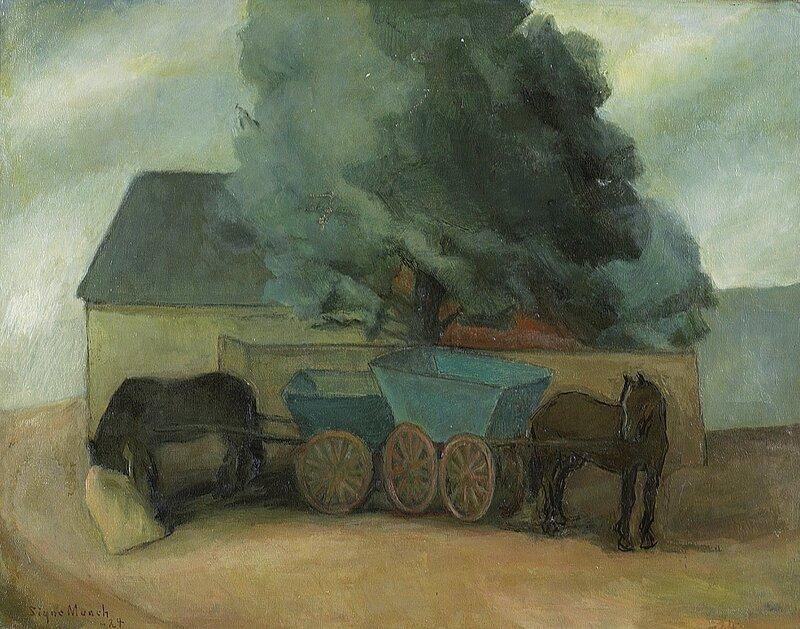 Hester og vogner 1924