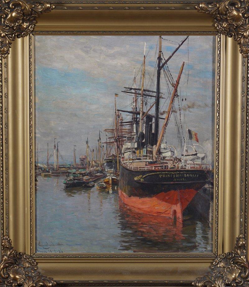 Fra havnen i Antwerpen 1886
