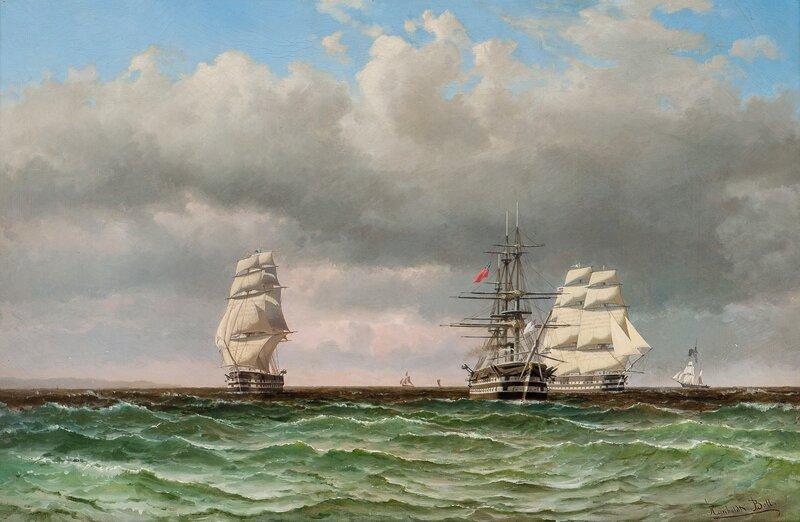 Seilskuter til havs